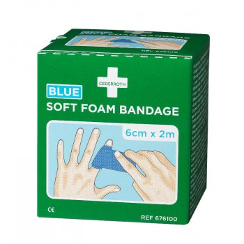 Bandaż piankowy Cederroth Soft Foam Bandage Blue 676100