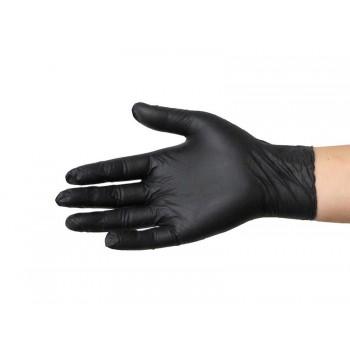 Rękawiczki nitrylowe czarne rozmiar XS